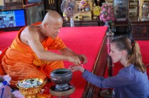 Blessed by monk in Bangkok, Thailand