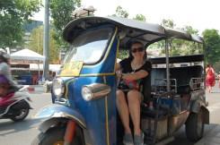 Driving a tuk tuk in Chiang Mai, Thailand