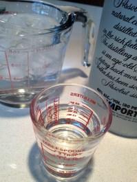 A litte vodka... a little water