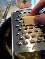 Grating in the cold butter