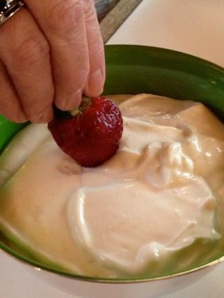 The yogurt mixture can be a dip