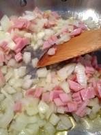 Stirring in the ham