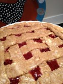 Lattice top - ready for the oven