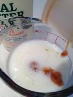 Measuring the wet ingredients