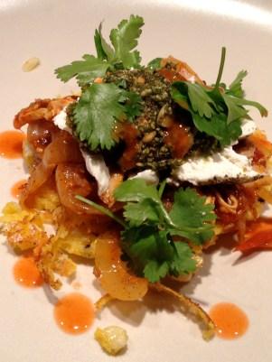 Served with goat cheese, fresh cilantro, and Pepitas Pesto