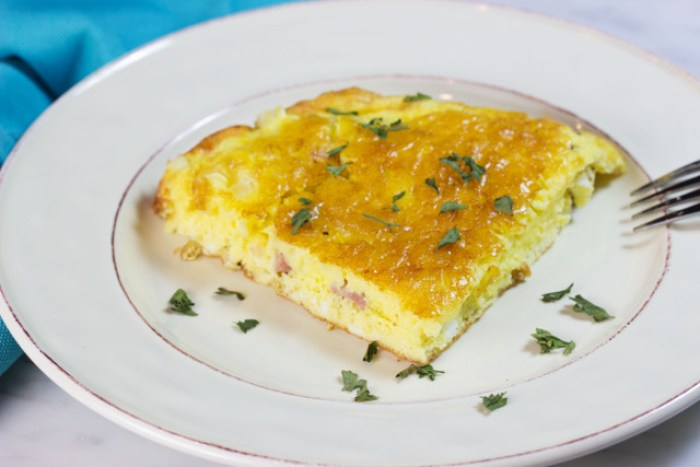 gluten free frittata on a plate