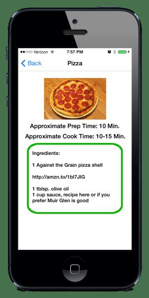 Gluten Free Recipe Book App