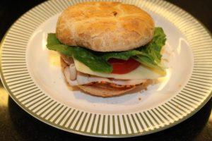 Turkey and Swiss Sandwich, gluten free, against the grain gluten free