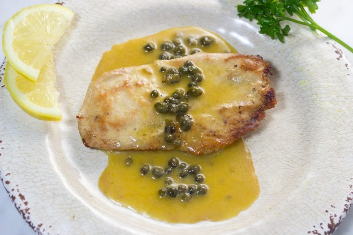 Lemon and capers sauce
