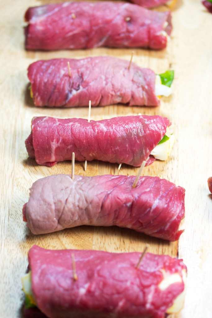 beef rollups before cooking