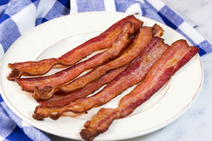 delicious bacon on a plate
