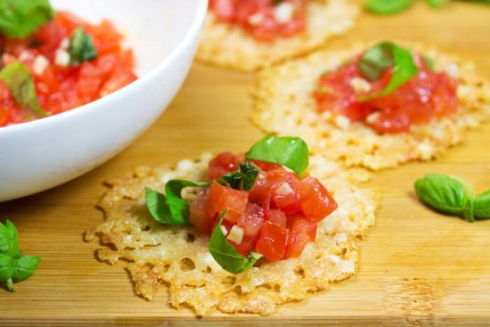 Bruschetta Cheese Crisps (Low Carb)