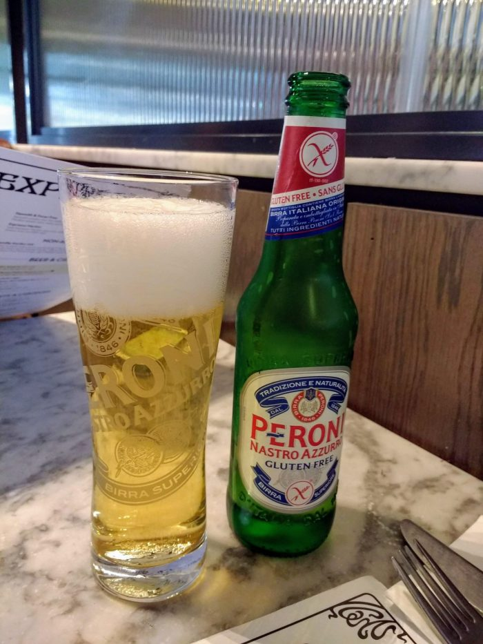 I first found gluten free Peroni on the Italian Riviera | Dreams of eating gluten free on the Italian Riviera...