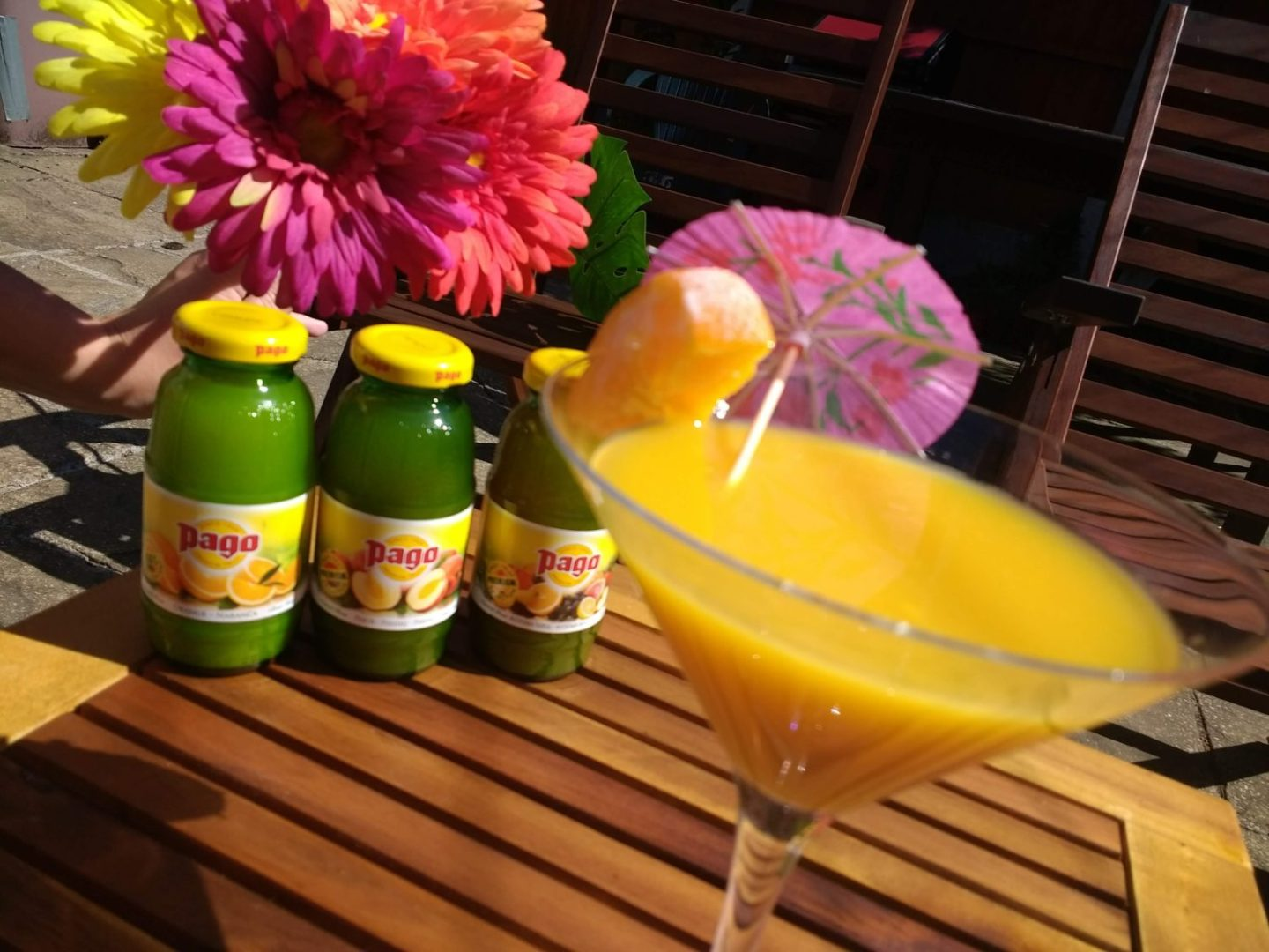 Summer Cocktails with Pago Fruit Juices*