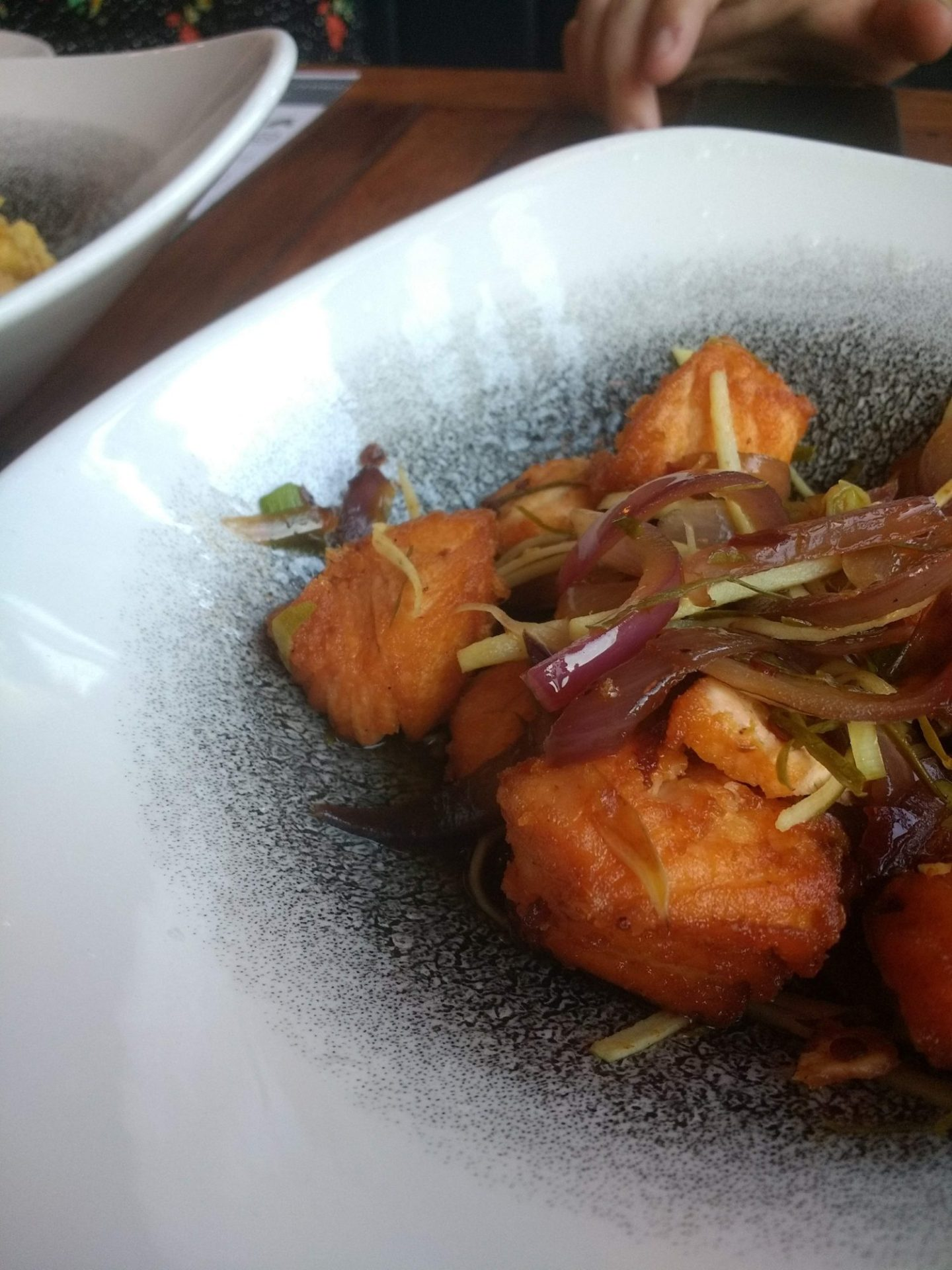 Thai Salmon Salad at Chilli Banana Liverpool | Gluten Free Thai Food in Liverpool at Chilli Banana