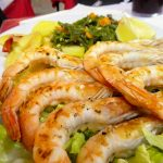Grilled prawns, known as Gambas Plancha, are a good gluten free option in Spain.
