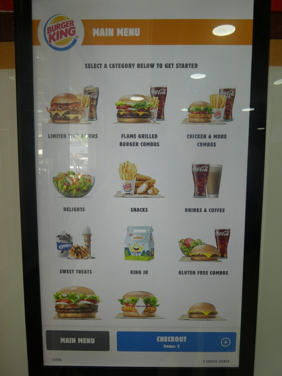 Spanish Burger King Menu with Gluten Free Options