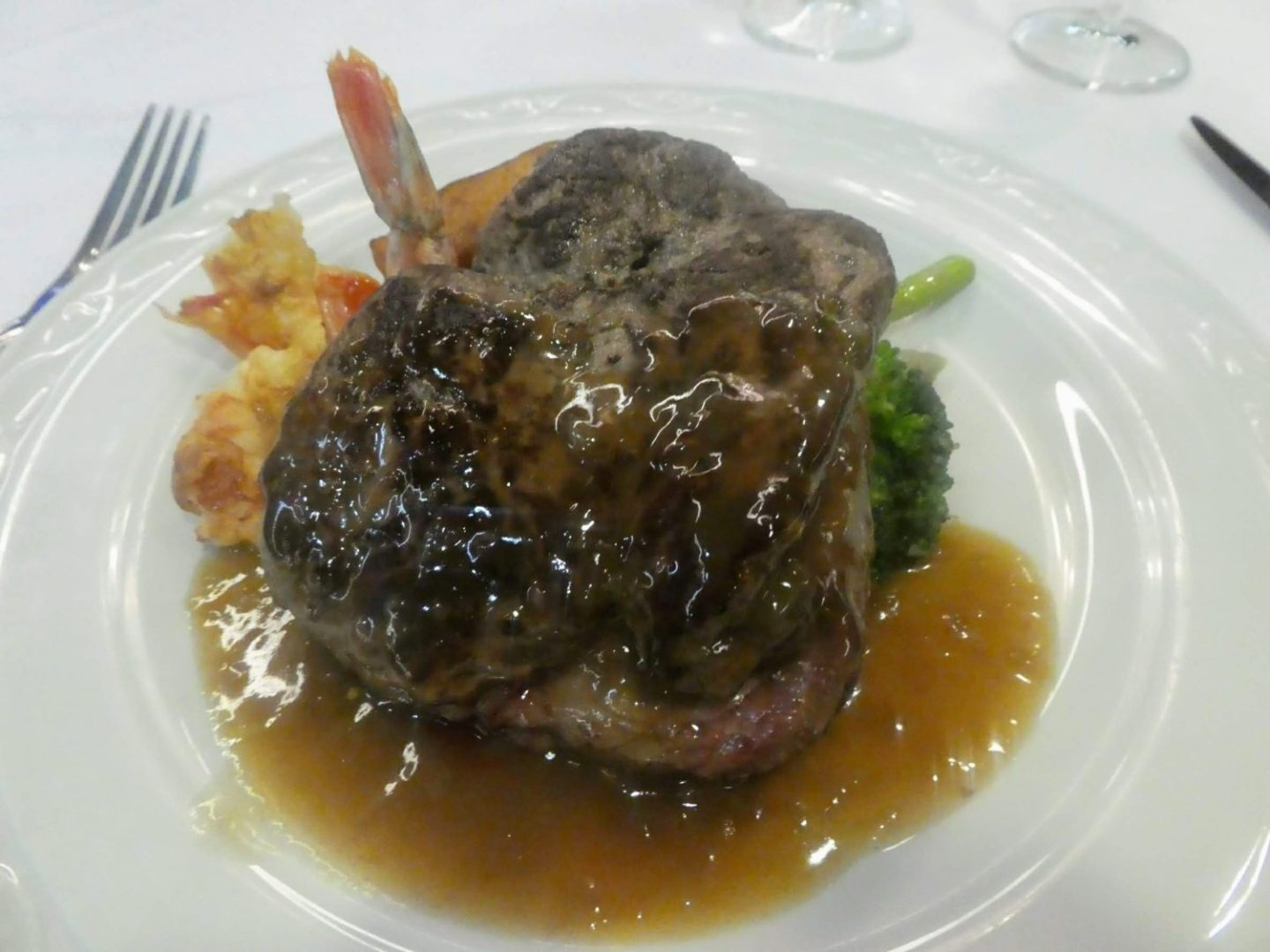 Eating Gluten Free on Marella Cruises - Sirocco's surf and turf