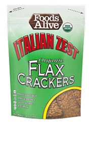 Italian Zest Organic Flax Crackers