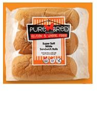 Supersoft White Sandwich Rolls - gluten free Rolls