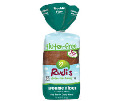 Rudi's Gluten Free Bakery Double Fiber Bread, one of the best Wheat free bread brands