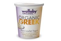 Wallaby Organic Greek Lowfat Plain, one of the best Low fat greek yogurt