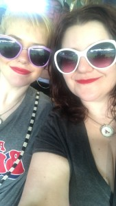 An image of my sister & I at SunTrust Park