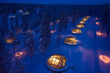 Kakslauttanen igloos in Finland