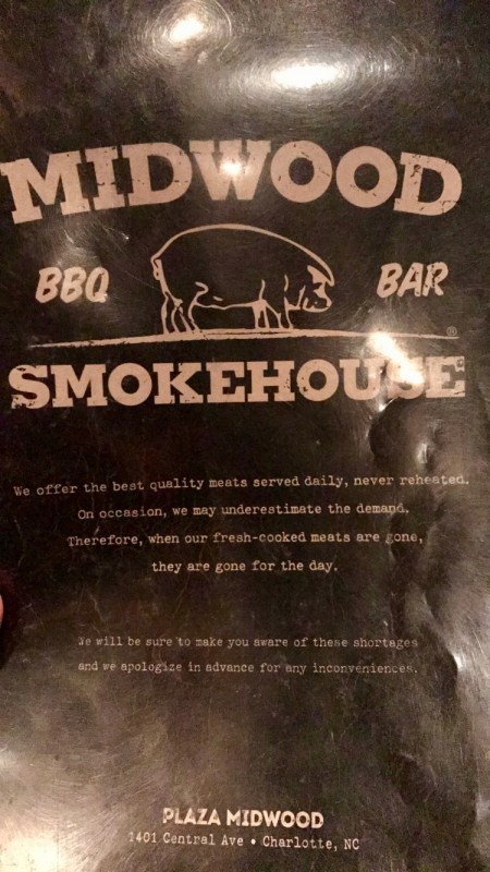 Midwood Smokehouse menu