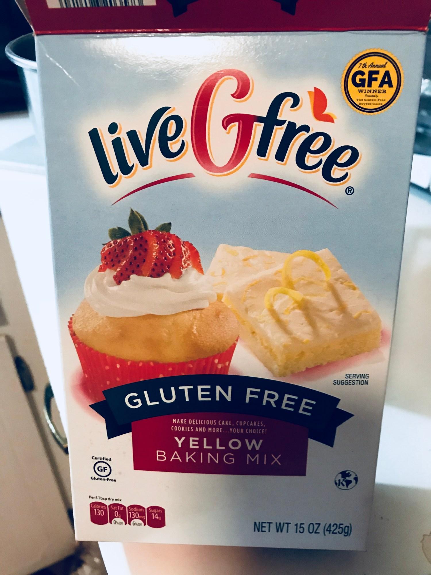 Live G Free Cake mix box