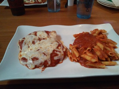 La Villa GF chicken parm and Bionature pasta