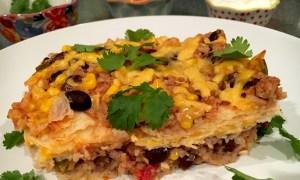 Gluten Free Mexican Lasagna