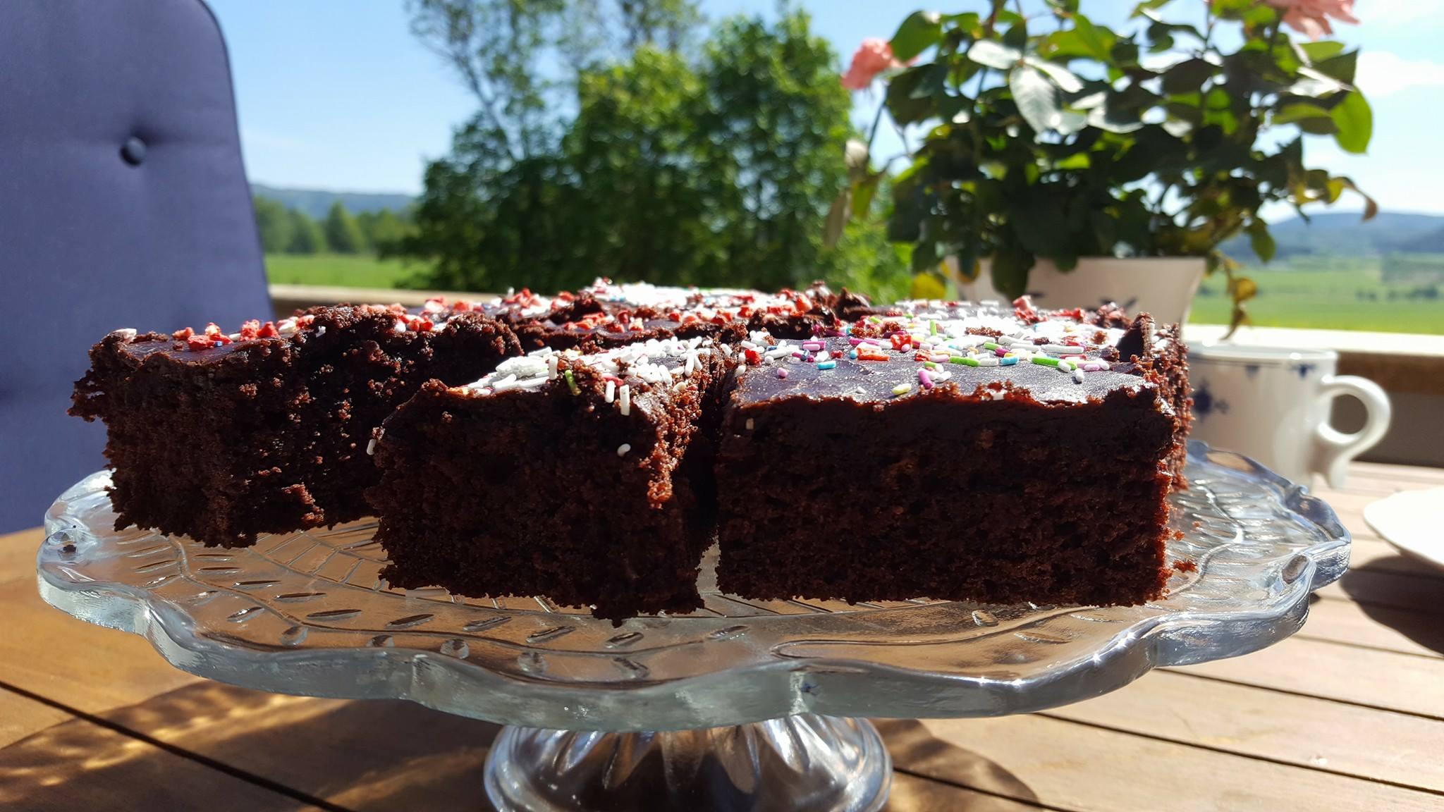 sjokoladekake uten egg, melk og gluten
