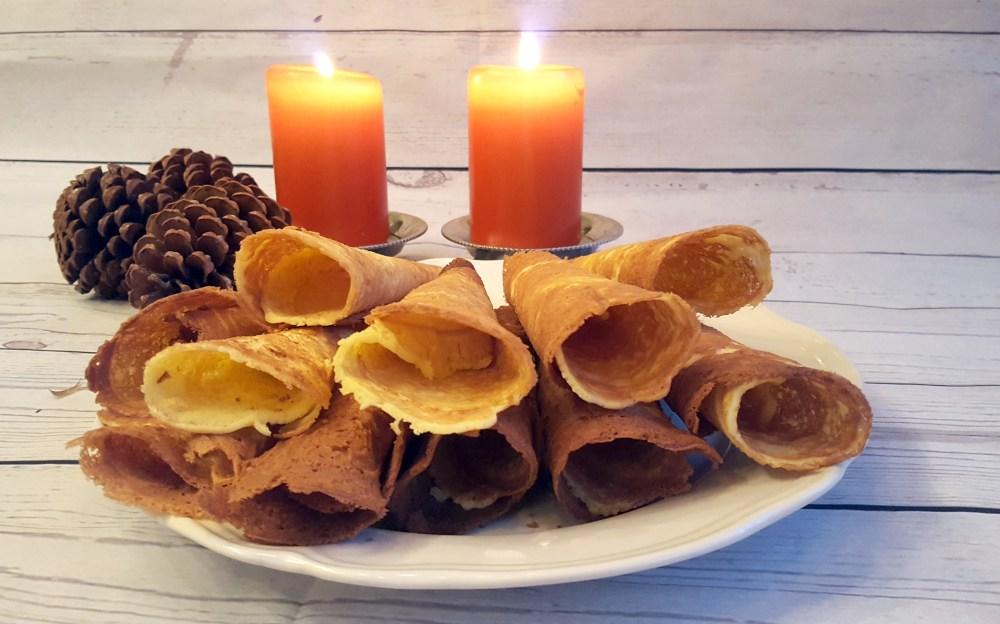 Krumkaker - julekaker uten gluten og melk