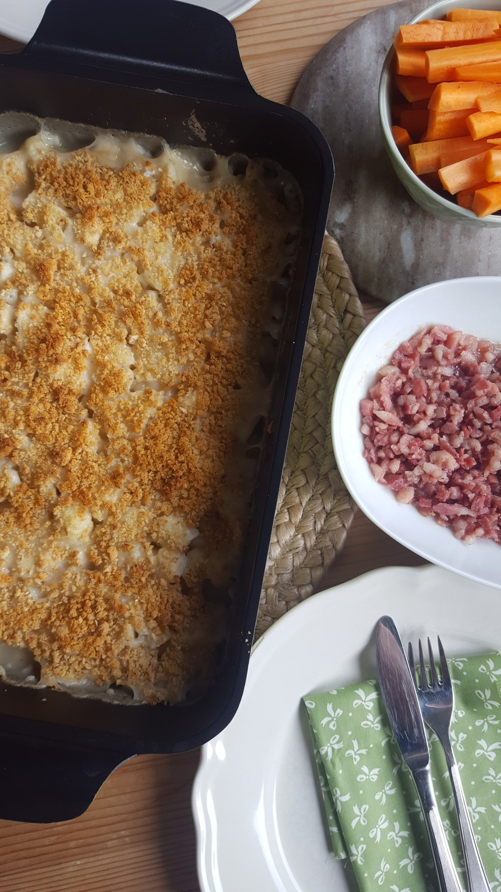 Gluten- og melkefri fiskegrateng