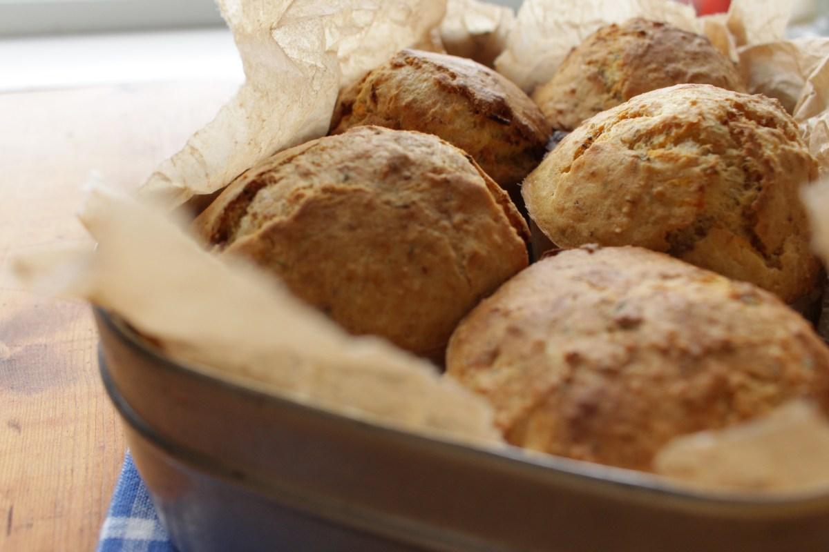 Gluten- og melkefrie matpakkemuffins