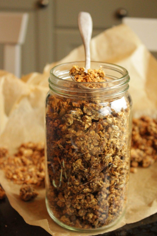 glutenfri granola med peanøtter 045