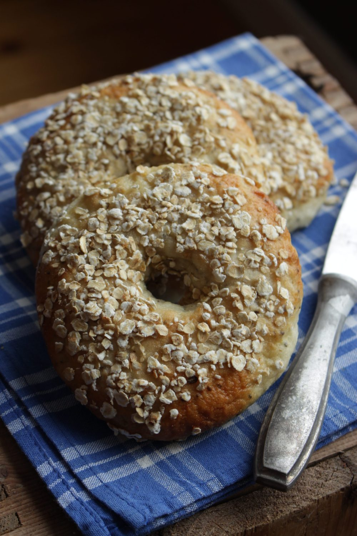 Glutenfrie bagels med havre