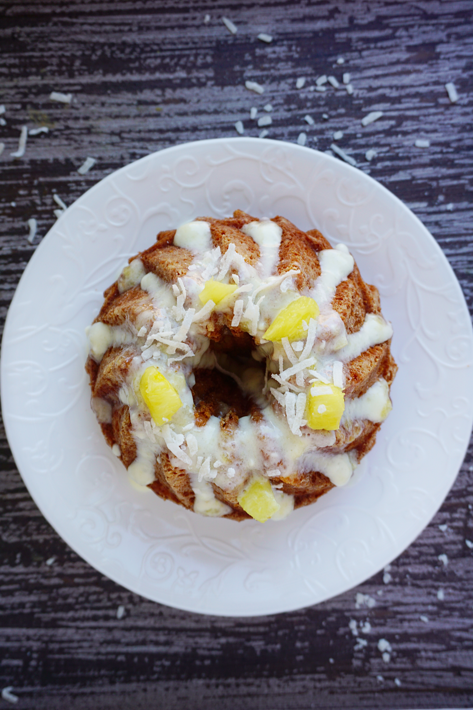 Piña colada cake (gluten-free)