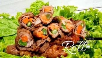 Beef & vegetable roll