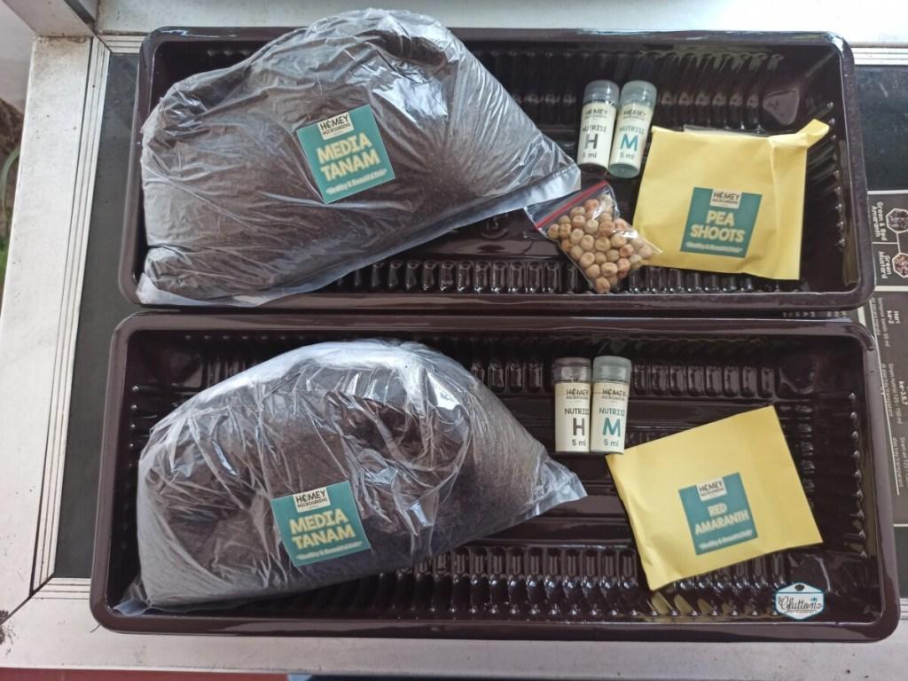 pack menanam microgreens