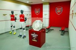 Le vestiaire d'Arsenal