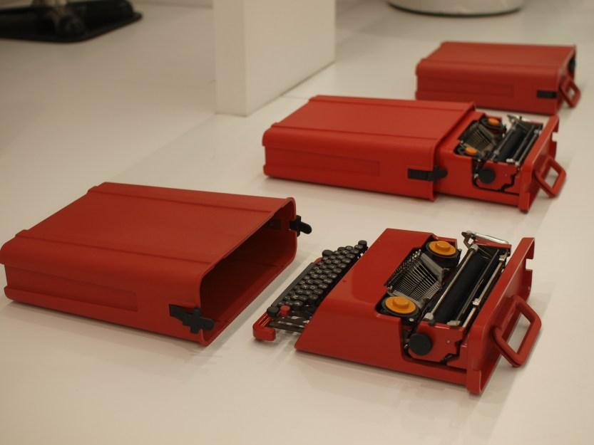 Red Valentine Portable Typewriter, 1968
