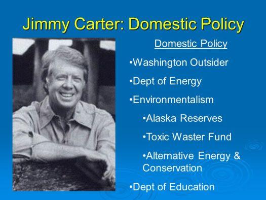Washington Outsider. Dept of Energy. Environmentalism. Alaska Reserves. Toxic Waster Fund. Alternative Energy & Conservation. Dept of Education.