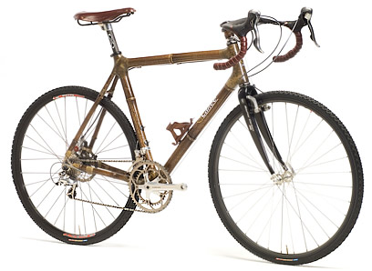Bamboo bike frame by Calfee Design.