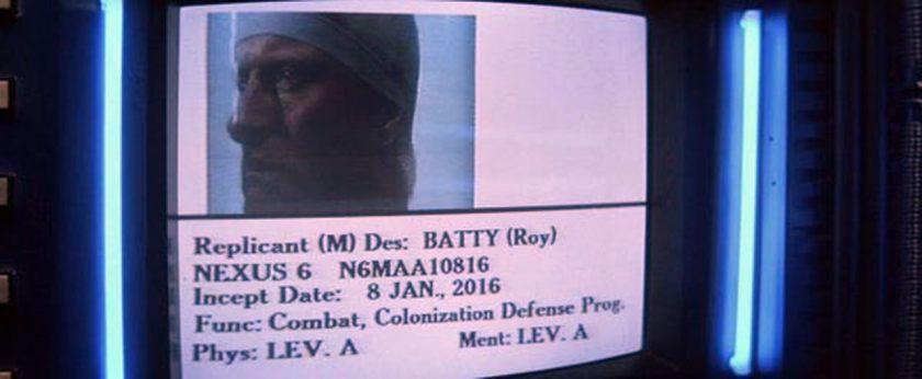 Roy Batty's Incept Date
