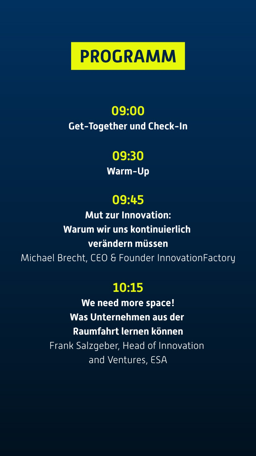 Programm Rocketeer Festival Augsburg - Innovationen und Zukunftstrends