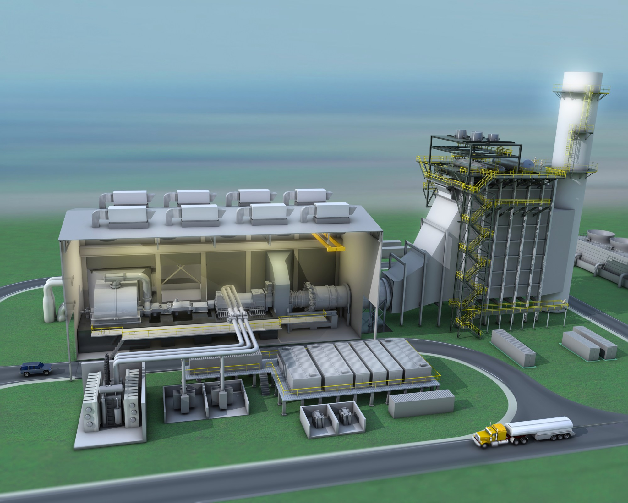 hight resolution of flexefficiency 50 combined cycle power plant