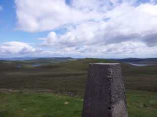 Looking E from Dunrod Hill