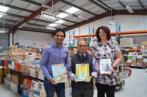 Shahid Khan, Vinay Ruparelia (Books Abroad) and Rebecca Gebauer